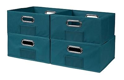 Niche Cubo Half-Size Foldable Fabric Storage Bins- Teal (HTOTE064PKTL)