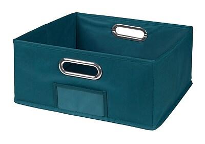 Niche Cubo Half-Size Foldable Fabric Storage Bin- Teal (HTOTE1206TL)