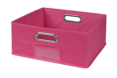 Superieur Niche Cubo Half Size Foldable Fabric Storage Bin  Pink (HTOTE1206PK)