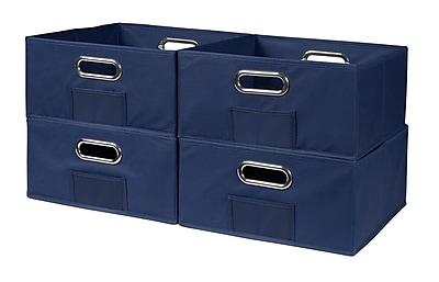 Niche Cubo Half-Size Foldable Fabric Storage Bins- Blue (HTOTE064PKBE)