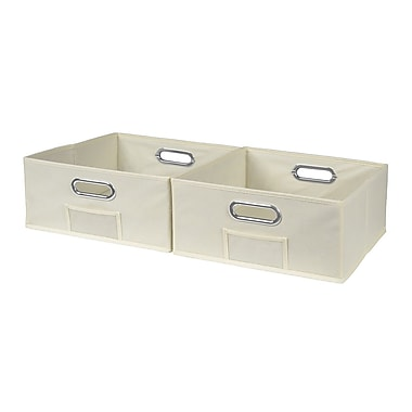 Niche Cubo Half-size Foldable Fabric Storage Bins- Beige (HTOTE062PKNT)