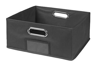 Niche Cubo Half-Size Foldable Fabric Storage Bin- Grey (HTOTE1206GY)