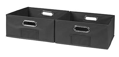 Niche Cubo Half-size Foldable Fabric Storage Bins- Grey (HTOTE062PKGY)