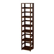 """Regency Flip Flop 67"""" High Square Folding Bookcase- Mocha Walnut (FFSQ6712MW)"""