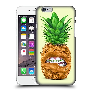 Official Paul Fuentes Pastels Pineapple Braces Sq Hard Back Case For Apple Iphone 6 / 6S