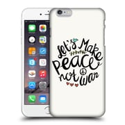 Official Pom Graphic Design Typography Peace Not War Hard Back Case For Apple Iphone 6 Plus / 6S Plus