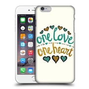 Official Pom Graphic Design Typography One Love One Heart Hard Back Case For Apple Iphone 6 Plus / 6S Plus