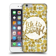 Official Pom Graphic Design Typography Life Is Beautiful Hard Back Case For Apple Iphone 6 Plus / 6S Plus