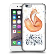 Official Kristina Kvilis Christmas Fox 2 Hard Back Case For Apple Iphone 6 / 6S