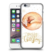 Official Kristina Kvilis Christmas Fox Hard Back Case For Apple Iphone 6 / 6S