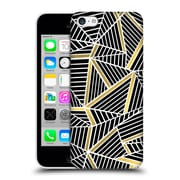 Official Project M Abstract Lines Two Tone Black Gold Hard Back Case For Apple Iphone 5C