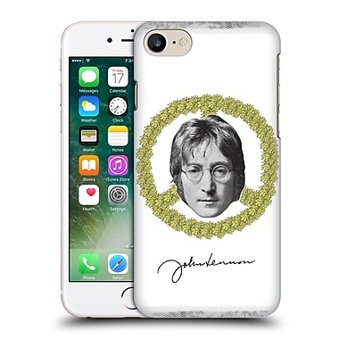 Official John Lennon Fan Art Floral Peace Hard Back Case For Apple Iphone 7