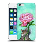 Official Jane Starr Weils Symbols And Ornaments Squirrel Presenting Peony Hard Back Case For Apple Iphone 5 / 5S / Se