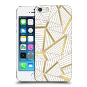 Official Project M Abstract Lines Two Tone Golden Hard Back Case For Apple Iphone 5 / 5S / Se