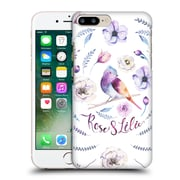 Official Kristina Kvilis Birds Rose And Lily 2 Hard Back Case For Apple Iphone 7 Plus