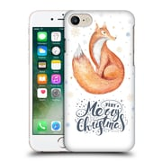 Official Kristina Kvilis Christmas Fox 2 Hard Back Case For Apple Iphone 7