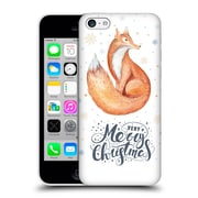 Official Kristina Kvilis Christmas Fox 2 Hard Back Case For Apple Iphone 5C