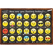 "Ashley Productions Smart Poly Chart, 13"" x 19"", Emoji How Are You Feeling (ASH91032)"