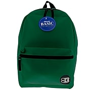 BAZIC Basic Collection Polyester School Backpack, Solid, Green (BAZ1033)