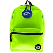 BAZIC Basic Collection Polyester School Backpack, Solid, Lime Green (BAZ1034)
