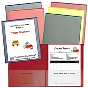"""C-Line 11.75""""H x 9.44""""W Plastic Classroom Connector School-To-Home Folder, 6/Pack (CLI32010)"""