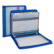 """C-Line 13.50""""H x 11.00""""W Assorted Materials Ring Binder/Expanding File Storage System, Blue (CLI48115)"""