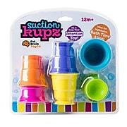 Fat Brain Toys Suction Kupz, Assorted Colors, 6 Per Set (FBT183)