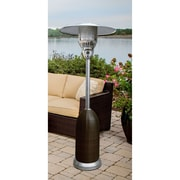 Hanover 7-Ft. 41,000 BTU Round Wicker Propane Patio Heater in Brown/Stainless Steel