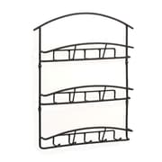 Spectrum® Euro Wall Mount 3-Tier Letter Holder and Key Rack, Black (45310)