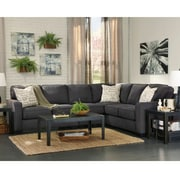 Signature Design by Ashley Alenya 3-Piece RAF Sofa Sectional in Microfiber (1669SEC3RAFSCH)