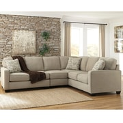Signature Design by Ashley Alenya 3-Piece RAF Sofa Sectional in Microfiber (1669SEC3RAFSQTZ)