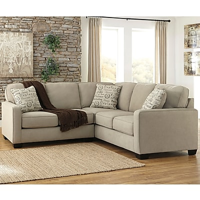 Signature Design by Ashley Alenya 2-Piece Sofa Sectional in Microfiber (1669SEC2PCQTZ)