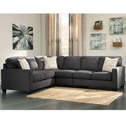 Signature Design by Ashley Alenya 3-Piece LAF Sofa Sectional in Microfiber (1669SEC3LAFSCH)