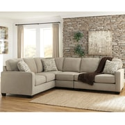 Signature Design by Ashley Alenya 3-Piece LAF Sofa Sectional in Microfiber (1669SEC3LAFSQTZ)