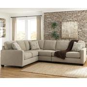 Signature Design by Ashley Alenya 3-Piece LAF Sofa Sectional in Microfiber (1669SEC3LAFSQTZ)