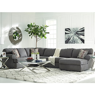 Signature Design by Ashley Jayceon 3-Piece LAF Sofa Sectional in Fabric (6499SEC3LAFSSTL)