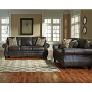 Benchcraft Breville Living Room Set in Faux Leather (8009SETCH)