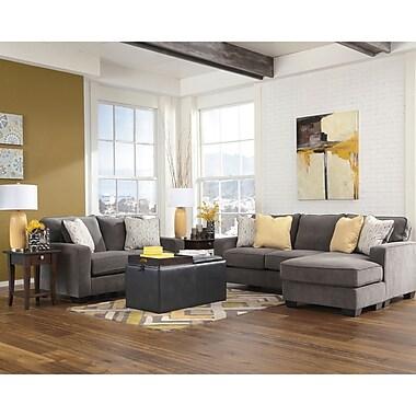 Signature Design by Ashley Hodan Living Room Set in Microfiber (7979SETMBL)
