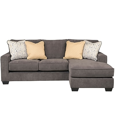 Signature Design by Ashley Hodan Sofa Chaise in Microfiber (7979SOFCHMBL)