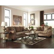 Signature Design by Ashley Larkinhurst Living Room Set in Faux Leather (3199SETERT)