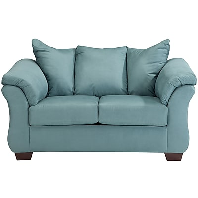 Signature Design by Ashley Darcy Loveseat in Microfiber (1109LSSKY)