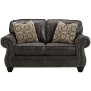 Benchcraft Breville Loveseat in Faux Leather (FBC8009LSCH)