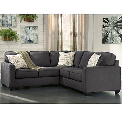 Signature Design by Ashley Alenya 2-Piece Sofa Sectional in Microfiber (1669SEC2PCCH)