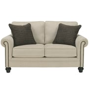 Signature Design by Ashley Milari Loveseat in Linen (1309LSLIN)