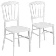 2  Pack. Resin Stacking Napoleon Chair (2LELMONWH)