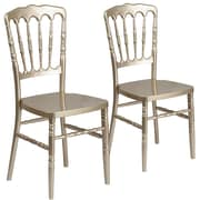 2  Pack. Resin Stacking Napoleon Chair (2LELMONGD)
