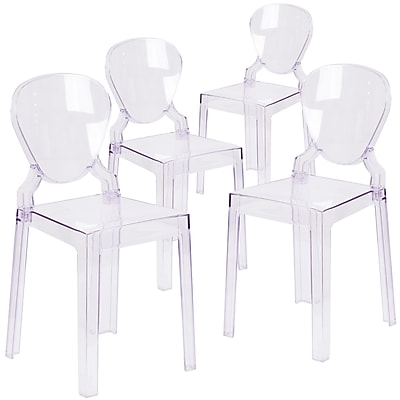 4 Pack. Ghost Chair with Tear Back (4OWTEARBACK18)