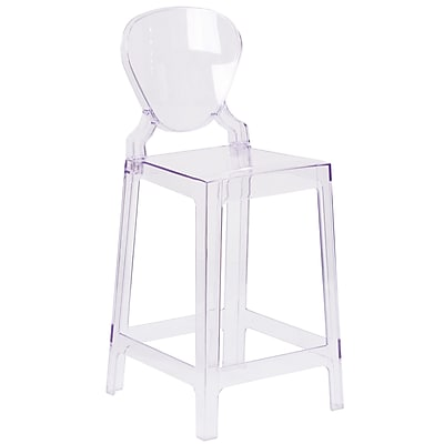 Ghost Counter Stool in Transparent Crystal with Tear Back (OWTEARBACK24)