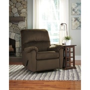 Signature Design by Ashley Bronwyn Swivel Glider Recliner in Fabric (1119RECGLDCOA)