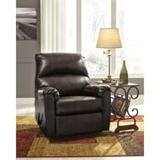 Signature Design by Ashley Talco Rocker Recliner in Faux Leather (5199RECGUN)